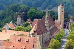 Der Tauber Alemania del ob de Rothenburg Imagenes de archivo