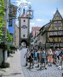 Der Tauber, Allemagne d'ob de Rothenburg Images libres de droits