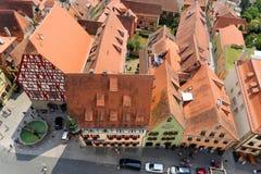 Der Tauber, Bavière, Allemagne d'ob de Rothenburg Photographie stock