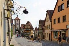 Der Tauber, Bavière, Allemagne d'ob de Rothenburg Photo libre de droits