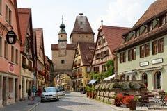 Der Tauber, Bavière, Allemagne d'ob de Rothenburg Photo stock