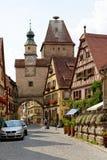 Der Tauber, Bavière, Allemagne d'ob de Rothenburg Photos libres de droits
