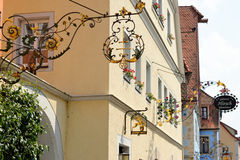 Der Tauber, Baviera, Alemania del ob de Rothenburg Imagen de archivo