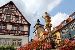 Der Tauber, Baviera, Alemania del ob de Rothenburg Foto de archivo