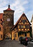 Der Tauber - Baviera del ob di Siebersturm Rothenburg - la Germania fotografia stock