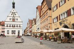 Der Tauber d'ob de Rothenburg Image libre de droits