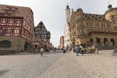 Der Tauber d'ob de Rothenburg Photo libre de droits