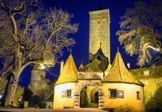 Der Tauber d'ob de Rothenburg Photos stock
