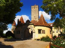 Der Tauber d'ob de Rothenburg Images libres de droits