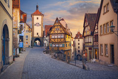 Der Tauber d'ob de Rothenburg Photos libres de droits