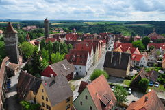 Der Tauber d'ob de Rothenburg Photos libres de droits