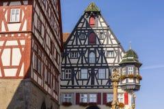 Der Tauber del ob de Rothenburg Imagenes de archivo