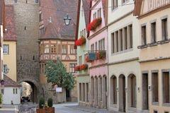 Der Tauber del ob de Rothenburg Imágenes de archivo libres de regalías