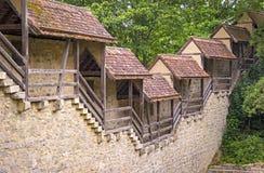 Der Tauber del ob de Rothenburg de la pared de la ciudad Imagenes de archivo