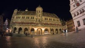 Der Tauber del ob de Rothenburg en la tarde Foto de archivo