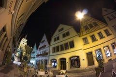 Der Tauber del ob de Rothenburg en la tarde Fotografía de archivo