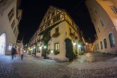 Der Tauber del ob de Rothenburg en la tarde Imagen de archivo