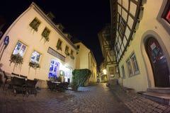 Der Tauber del ob de Rothenburg en la tarde Imagen de archivo libre de regalías