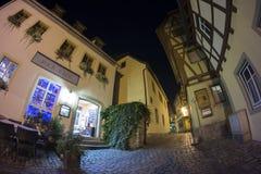 Der Tauber del ob de Rothenburg en la tarde Fotografía de archivo libre de regalías