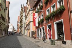 Der Tauber del ob di Rothenburg fotografie stock