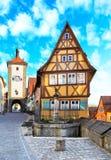 Der Tauber del ob di Rothenburg Fotografia Stock Libera da Diritti