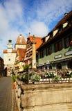 Der Tauber del ob di Rothenburg Immagini Stock Libere da Diritti