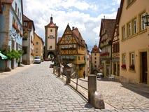 Der Tauber del ob di Rothenburg Immagine Stock Libera da Diritti