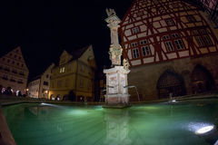 Der Tauber del ob di Rothenburg alla sera Fotografia Stock Libera da Diritti