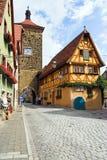 Der Tauber do ob de Rothenburg foto de stock
