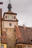 Der Tauber do ob de Rothenburg Fotografia de Stock Royalty Free