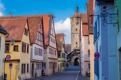 Der Tauber do ob de Rothenburg Fotos de Stock