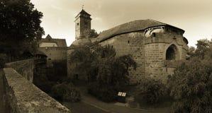 Der Tauber do ob de Rothenburg Foto de Stock Royalty Free