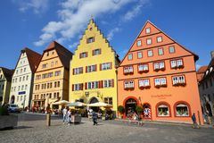 Der Tauber do ob de Rothenburg, Alemanha Imagem de Stock Royalty Free