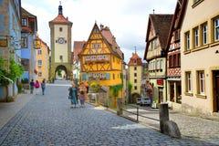 Der Tauber do ob de Rothenburg, Alemanha Imagem de Stock