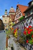 Der Tauber do ob de Rothenburg, Alemanha Fotos de Stock