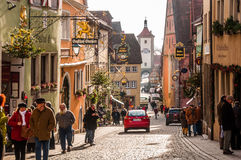 Der Tauber do ob de Rothenburg, Alemanha Imagem de Stock Royalty Free