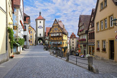 Der Tauber do ob de Rothenburg, Alemanha Fotografia de Stock