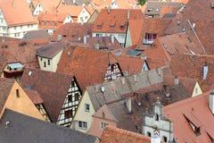 Der Tauber do ob de Rothenburg, Alemanha Imagens de Stock