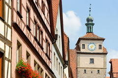 Der Tauber do ob de Rothenburg, Baviera, Alemanha Imagem de Stock Royalty Free