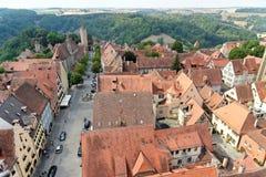 Der Tauber do ob de Rothenburg, Baviera, Alemanha Imagens de Stock