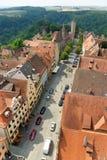 Der Tauber do ob de Rothenburg, Baviera, Alemanha Imagem de Stock Royalty Free