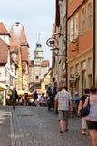 Der Tauber do ob de Rothenburg, Baviera, Alemanha Fotos de Stock
