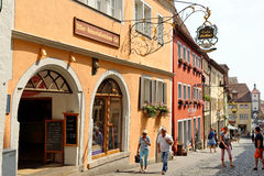 Der Tauber do ob de Rothenburg, Baviera, Alemanha Imagem de Stock