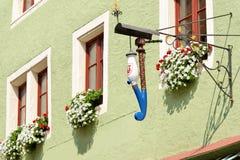 Der Tauber do ob de Rothenburg, Baviera, Alemanha Foto de Stock Royalty Free