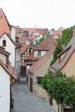 Der Tauber do ob de Rothenburg, Baviera, Alemanha Imagens de Stock Royalty Free
