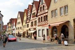 Der Tauber do ob de Rothenburg, Baviera, Alemanha Foto de Stock