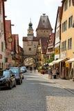 Der Tauber do ob de Rothenburg, Baviera, Alemanha Fotografia de Stock Royalty Free