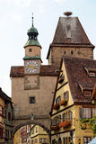 Der Tauber do ob de Rothenburg, Baviera, Alemanha Fotos de Stock Royalty Free