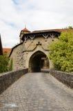 Der Tauber, fortificazione 2 del ob di Rothenburg della porta fotografia stock