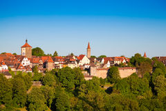 Der Tauber, Germania del ob di Rothenburg. Fotografia Stock